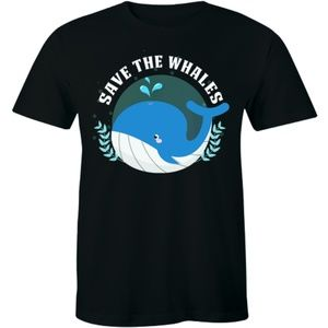 Save The Whales World Peace Narwhals Men's T-shirt